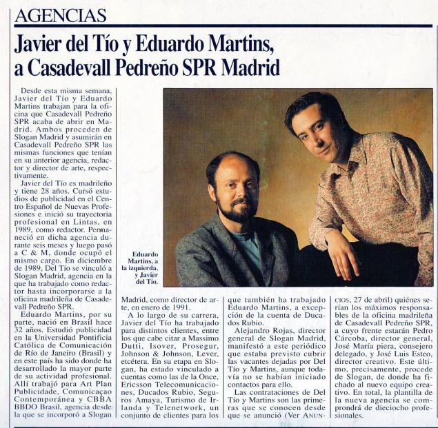 Casadevall&Pedreño 8 junio 92